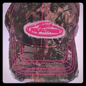 Mossy Oak Realtree Pink camo Velcro baseball cap